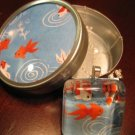 Handmade Japanese Glass Pendant Koi with Matching Gift