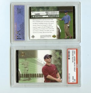 DAVID DUVAL 2001 UPPER DECK LEADERBOARD PSA 9 Golf US