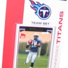 2006 Tennessee Titans Topps Set (12) Vince Young White