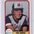 PHIL NIEKRO 1981 FLEER #242 Atlanta Braves NY Yankees