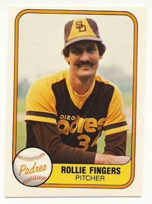 ROLLIE FINGERS 1981 FLEER #485 Oakland Athletics Padres