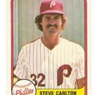 STEVE CARLTON 1981 FLEER #6 Philadelphia Phillies MLB