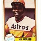 JOE MORGAN 1981 FLEER 78 Houston Astros Cincinnati Reds