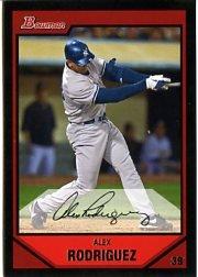ALEX RODRIGUEZ 2007 BOWMAN #200 New York Yankees