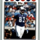 ALGE CRUMPLER 2008 TOPPS #188 Tennessee Titans Falcons