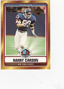 2006 Topps Hall of Fame Harry Carson New York Giants Football Cards Sports Hot