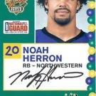 2005 Senior Bowl Noah Herron Northwestern sports cards