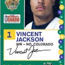 2005 Senior Bowl Vincent Jackson Northern Colorado sports cards football