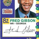 2005 Senior Bowl Fred Gibson Georgia sports cards football