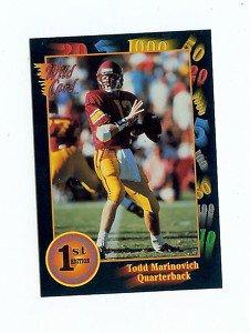 1991 Wildcard Todd Marinovich USC Trojans Sports Cards