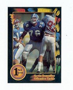 1991 Wildcard Kevin Donnalley North Carolina sports cards football