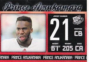 2011 Press Pass Prince Amukamare #21 Football Cards sports New York Giants Hot