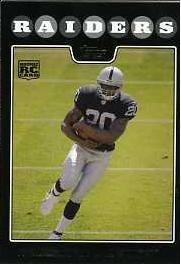 2008 Topps Black Darren McFadden sports cards football popular NFL Raiders Play