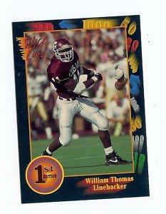 1991 Wildcard William Thomas Texas A&M sports cards football