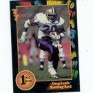 1991 Wildcard Greg Lewis Washington Huskies sports cards football