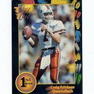 1991 Wildcard Craig Erickson Miami Hurricanes sports cards NFL Football