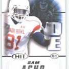 2011 Sage Hit Sam Acho Texas Longhorns sports cards football popular NFL plays
