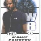 2011 Sage Hit DeMarco Sampson San Diego State sports cards football popular NFL