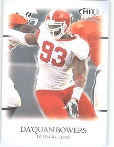 2011 Sage Hit Artistry Da'Quan Bowers Clemson Cards NFL
