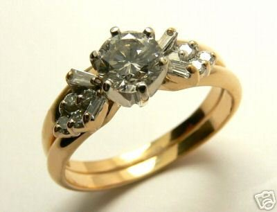 DIAMOND RING 14K YELLOW GOLD RING .64CTS