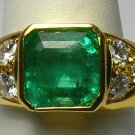 IMPECCABLE COLOMBIAN EMERALD & DIAMOND RING 2.10CTS