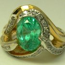 Exceptional Colombian Emerald & Diamond Ring 2.45ct