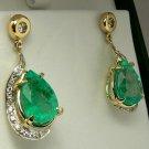 Divaesque! Custom Colombian Emerald & Diamond Earrings 12cts