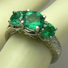 "The ""Orignal 3 Stone Ring"" with Colombian Emeralds 2cts"