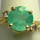 DIVINE COLOMBIAN EMERALD & DIAMOND RING
