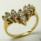Marvelous! Diamond Cascade & Gold Ring 18k 1ct