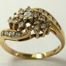 Enticing Diamond & Gold Cocktail Ring