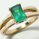 NATURAL COLOMBIAN  EMERALD RING 1 CT