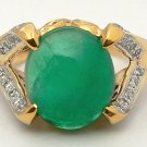 FANTASTIC COLOMBIAN EMERALD GOLD RING 2.20 CTS