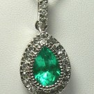 TOP QUALITY COLOMBIAN EMERALD & DIAMOND NECKLACE 2.01CT