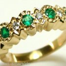 Lovely Colombian Emerald & Diamond Band .90cts