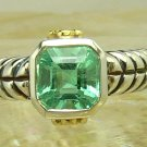 New! Artisan Collection! Colombian Emerald Sterling Silver & Diamond Ring