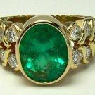 Gem Quality Colombian Emerald & Diamond Ring 5.80ctw