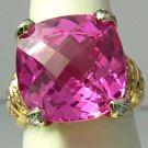 Gorgeous! Pink Topaz & Diamond Ring 12cts