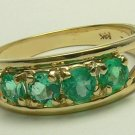 .80cts Beautiful! Colombian Emerald & Gold Ring 14k