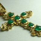 ATTOCHA REPLICA COLOMBIAN EMERALD CABOCHON CROSS