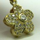 LUXURIOUS DIAMOND FLORAL PENDANT 18K