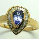 GLORIOUS!!! TANZANITE & DIAMOND RING