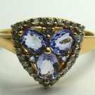 Delightful & Bright! Tanzanite & Diamond Ring