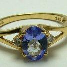 ELEGANT TANZANITE & DIAMOND RING