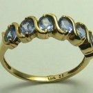 DIVINE TANZANITE & GOLD RING