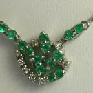 ANTIQUE COLOMBIAN EMERALD & DIAMOND NECKLACE .75CTS