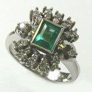 COLOMBIAN EMERALD & DIAMOND RING 1.46 CT