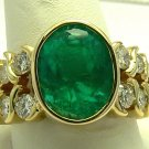5.80ct Gem Quality Colombian Emerald & Diamond Ring