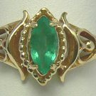 LOVELY COLOMBIAN EMERALD RING .40 CTS
