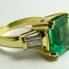 5.30tcw Headturning! Exquisite Colombian Emerald & Diamond Cocktail Ring